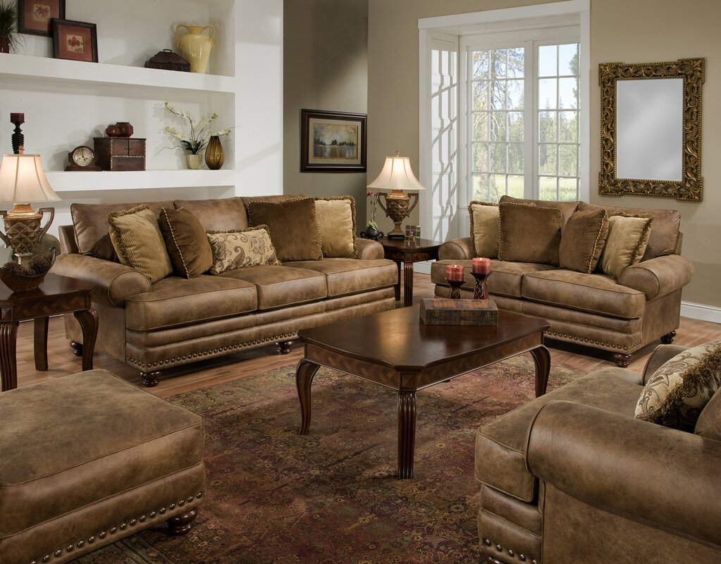 Rustic Living Room Sets  SKU  LOON2665  default nameLoon Peak Claremore Living Room Collection   Reviews   Wayfair. Living Room Collections. Home Design Ideas