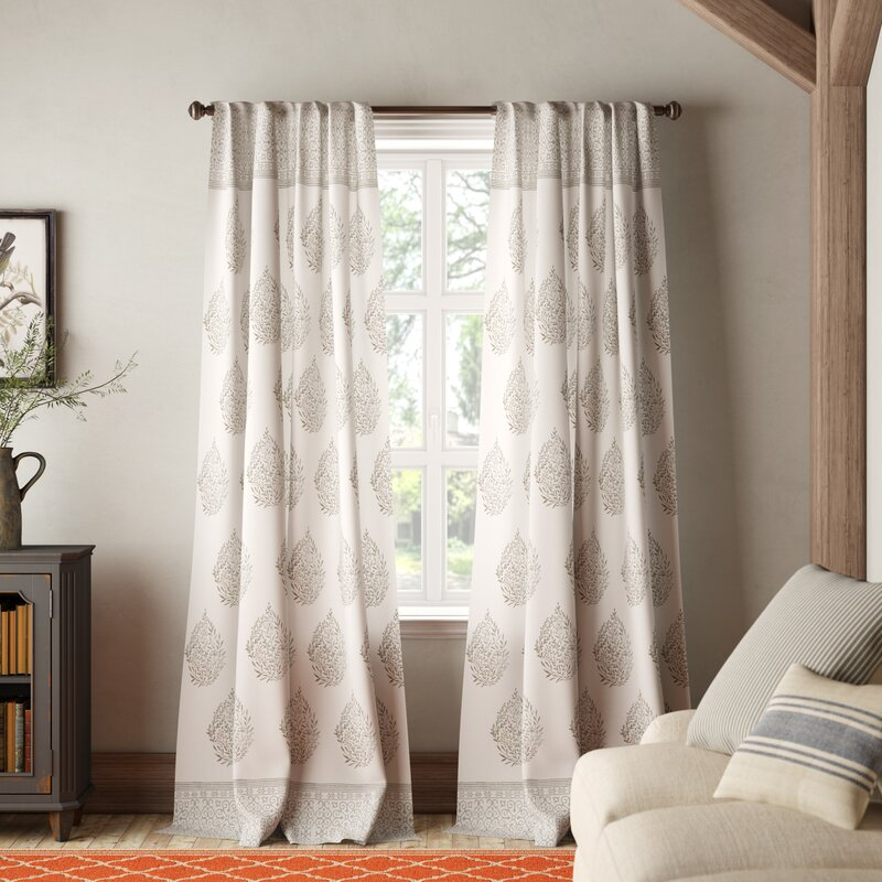 Bodenhamer Floral Room Darkening Thermal Rod Pocket Curtain Panels Reviews Birch Lane