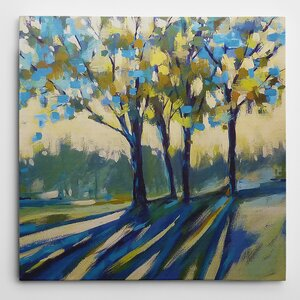Premium 'Long Shadows' by Karen Margulis Painting Print on Wrapped Canvas by Wexford Home