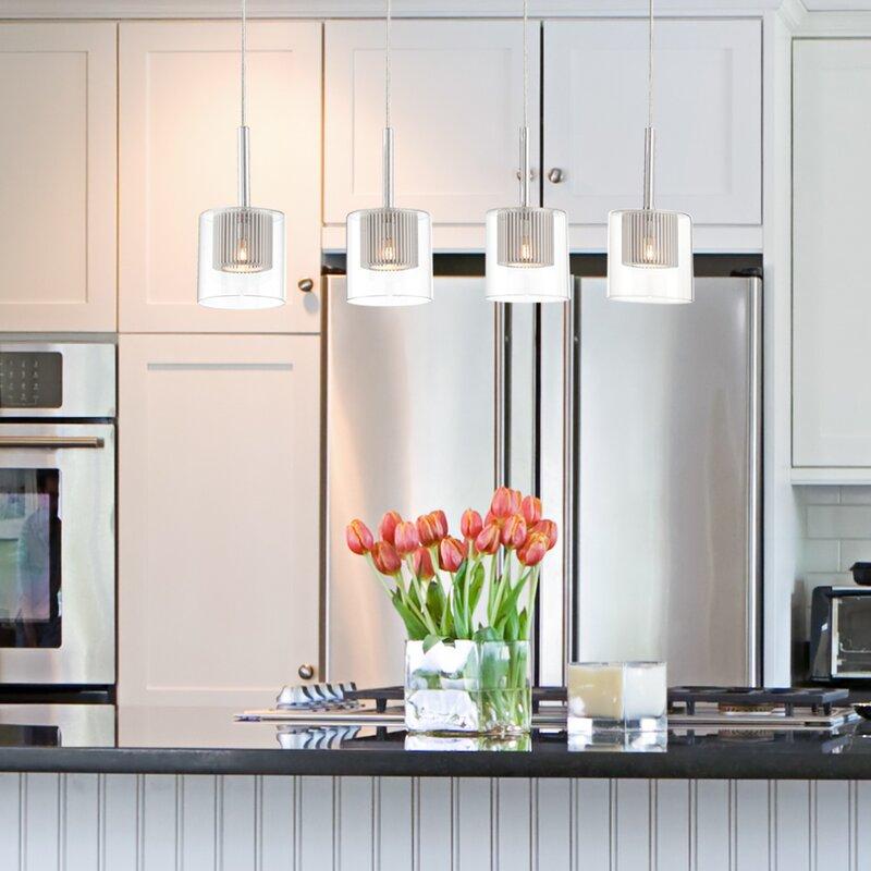 Kitchen Window Pendant: Cephas 4-Light Kitchen Island Pendant & Reviews
