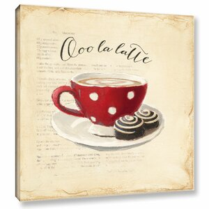 'Ooo La Latte' by Emily Adams Painting Print on Wrapped Canvas by ArtWall
