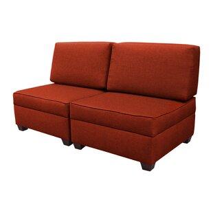 Attica Modular Convertible Sofa Red Barrel Studio