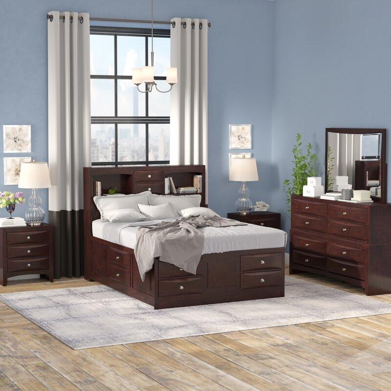 Superior Oreland Platform 5 Piece Espresso Bedroom Set