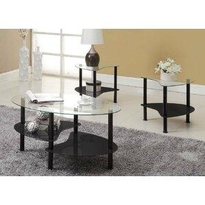 glass coffee table sets you'll love | wayfair