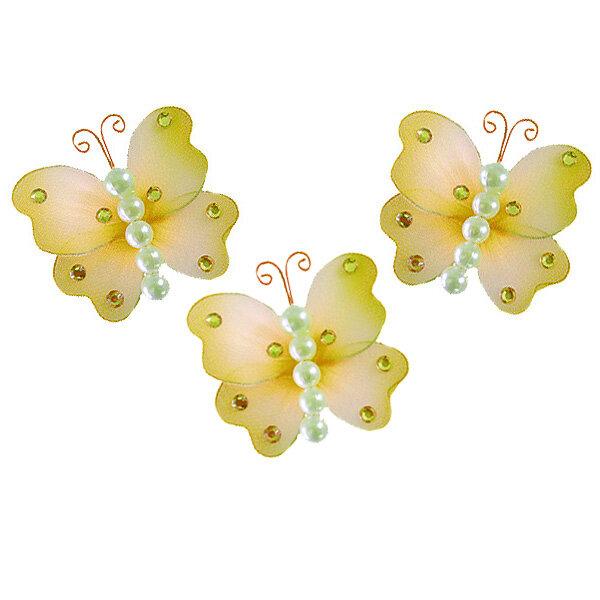 Harriet Bee Jewel Pearl Butterflies Hanging Organza Nylon 3D Wall ...