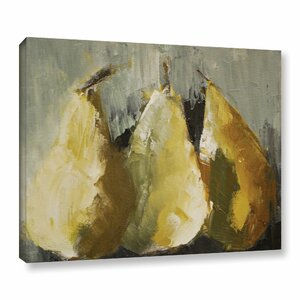 Modern Pears Painting Print on Wrapped Canvas by Alcott Hill