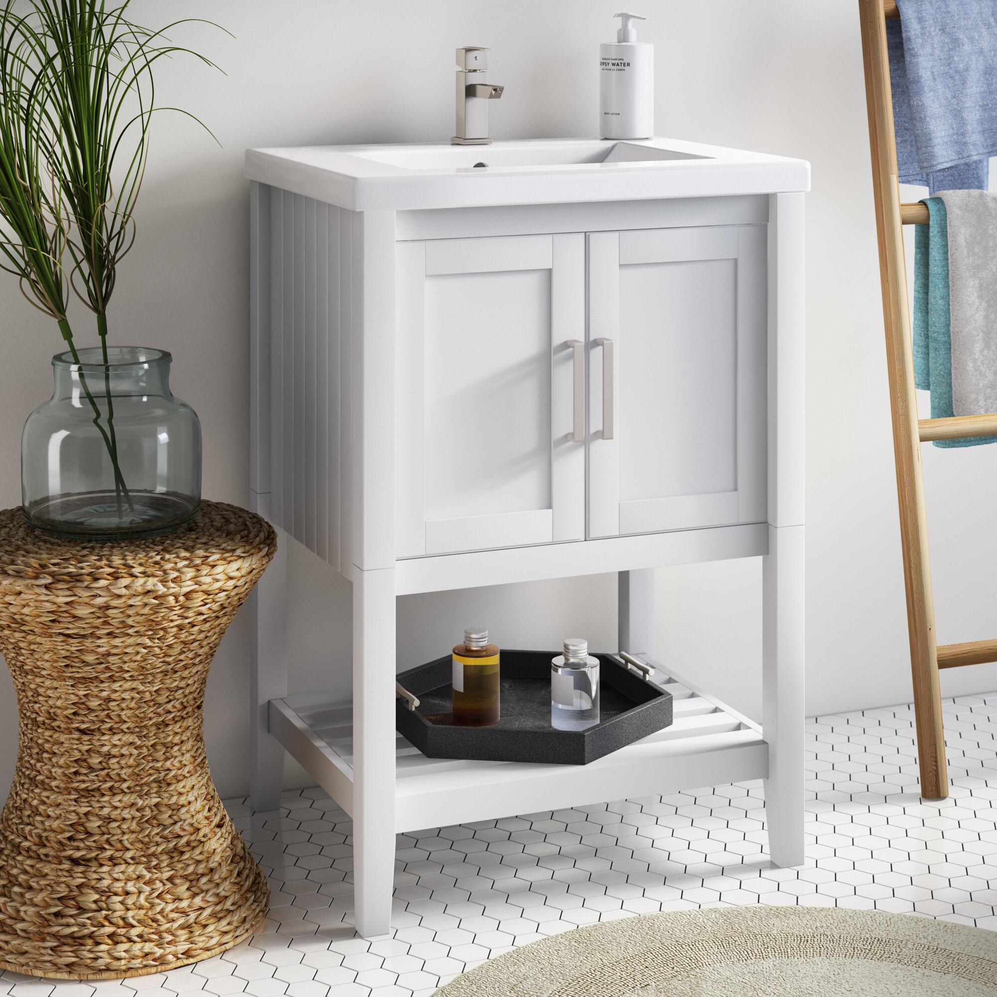 Highland Dunes Groth 24 Single Bathroom Vanity Set Reviews Wayfair