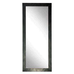 Brandt Works LLC Clouded Gunmetal Leaning Wall Mirror