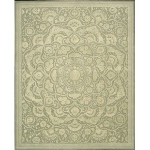 Riggs Hand-Tufted Wool/Silk Green Area Rug by Bloomsbury Market