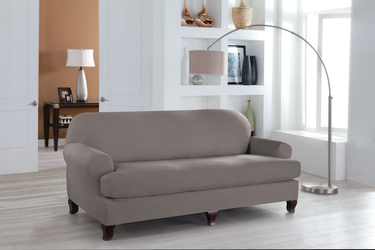Attractive T Cushion Sofa Slipcover