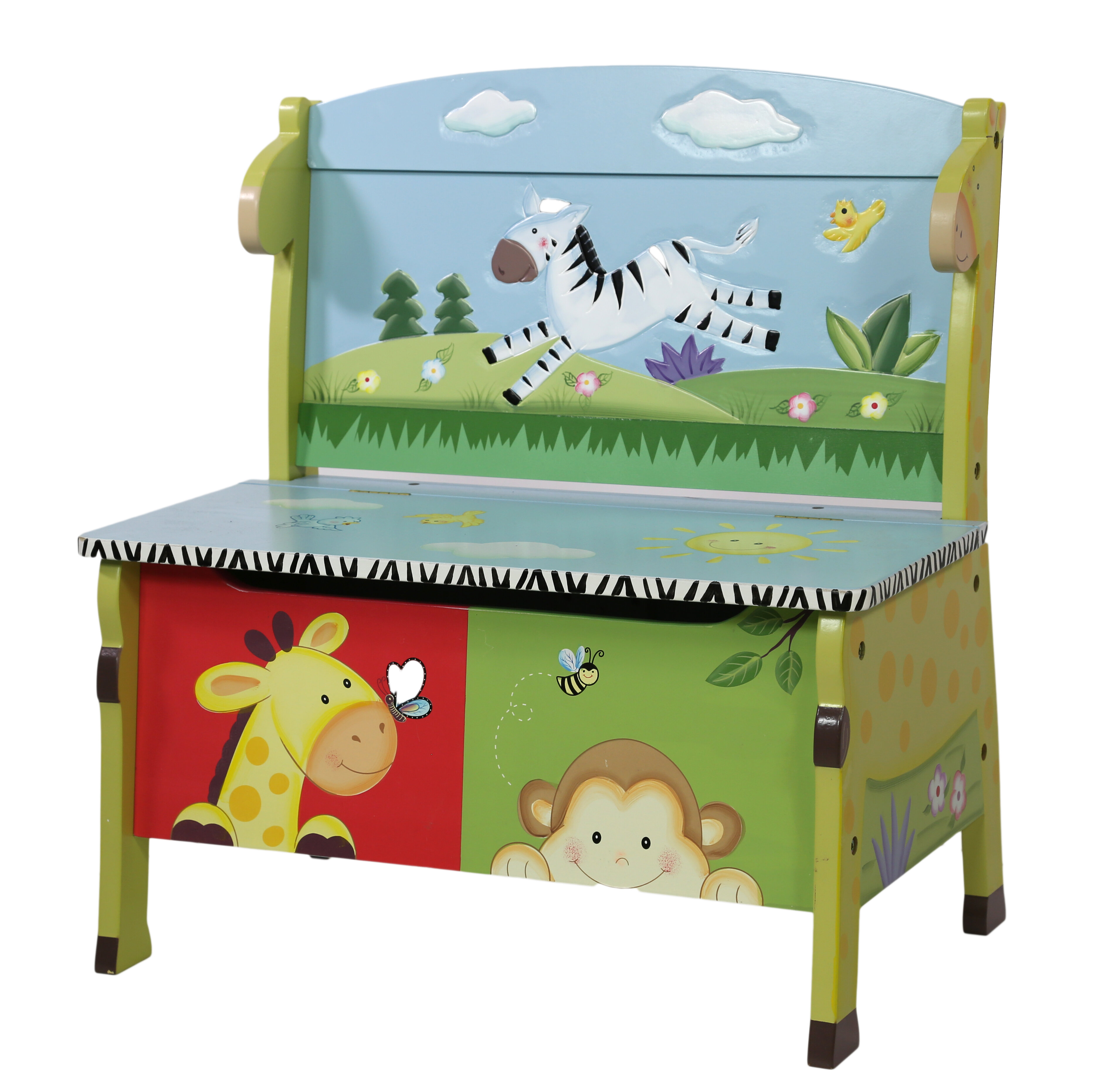 Trunk Storage Furniture Kids Toy Chest Guidecraft Brooklyn Toy Box ...