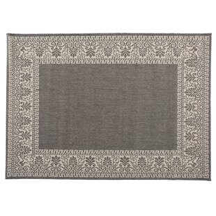 Veranda Scroll Flatweave Gray Area Rug by Plow & Hearth