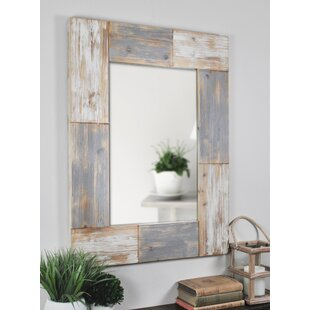 Rosecliff Heights Rectangle Planks Accent Mirror