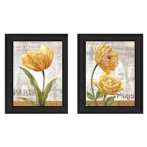 'Paris' 2 Piece Framed Painting Print Set by Trendy Decor 4U