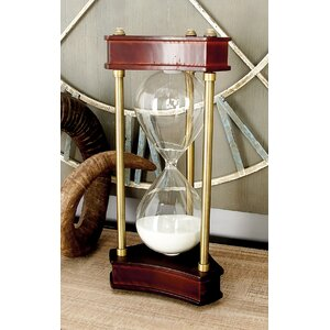 Wood, Metal and Glass Hourglass