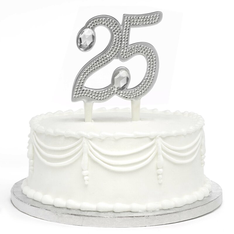 Le Prise Gilded 25th Anniversary Cake Topper Wayfair