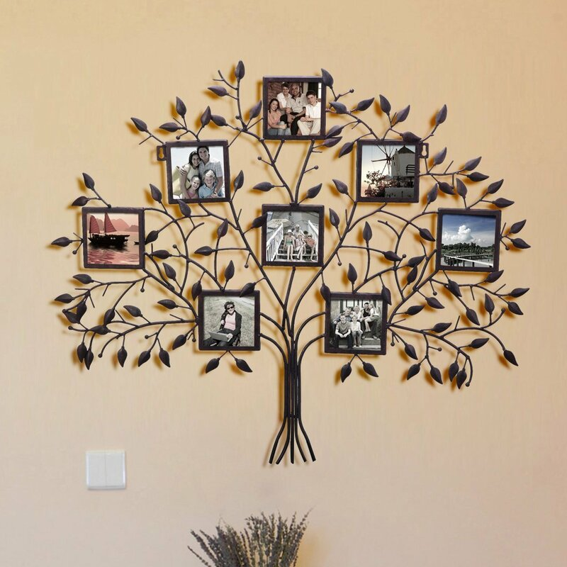 Andover Mills 8 Opening Decorative Family Tree Wall Hanging Collage ...