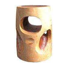 Natural Wood Cheese Stool by Asian Art Imports