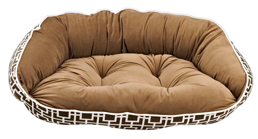 bowsers diam microvelvet crescent bolster dog bed & reviews | wayfair