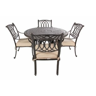 Chiasson 5 Piece Sunbrella Dining Set By Fleur De Lis Living