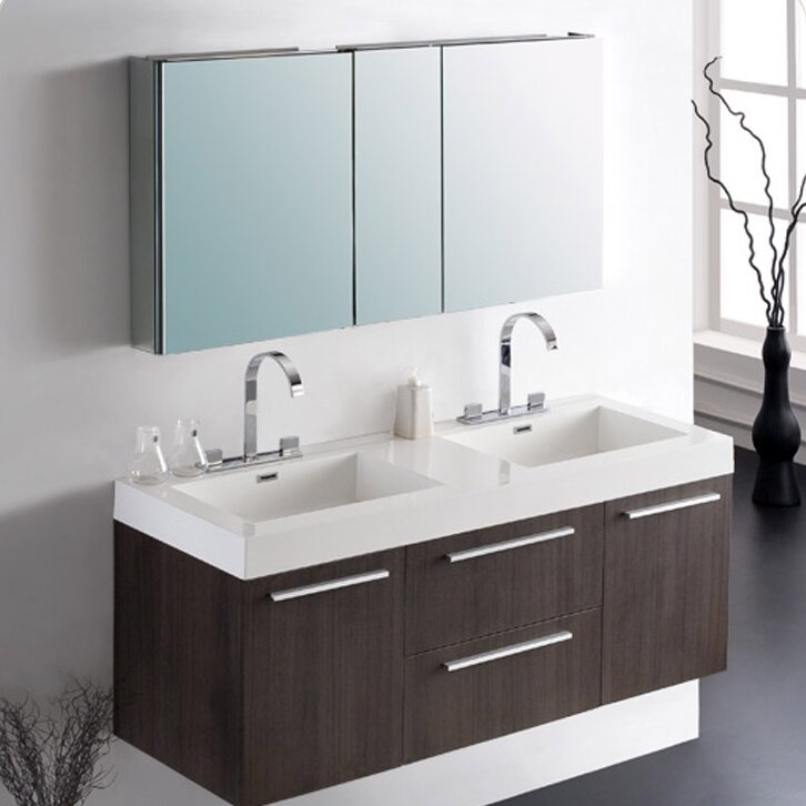 Senza Opulento 54 Double Bathroom Vanity Set With Mirror