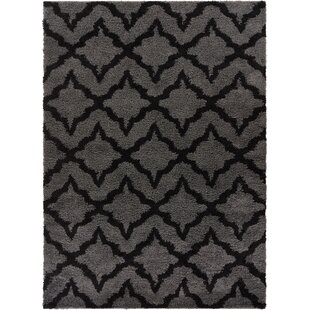 Affordable Madison Geometric Lattice Soft Gray/Black Area Rug By Well Woven