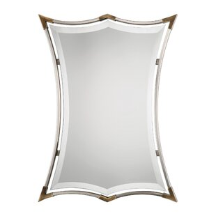 Latitude Run Brushed Nickel Framed Accent Mirror