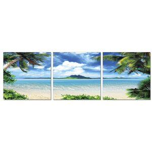 Coconut Tree Scenery 3 Piece Photographic Print Set by Furinno
