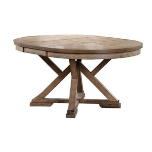 Oval kitchen dining tables you 39 ll love wayfair for Round table with butterfly leaf