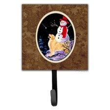 Golden Retriever with Snowman in Hat Wall Hook by Caroline's Treasures