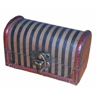 Decorative Wood Mini Trunk by Quickway Imports