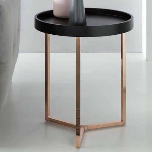 Tabletttisch   Wohnzimmer > Tische > Weitere Tische   Schwarz   Holzwerkstoff - Metall - Holz   Canora Grey