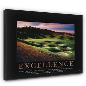 'Excellence Golf' Motivational Photographic Print by East Urban Home