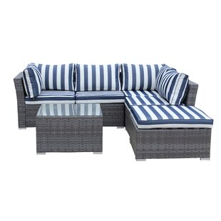 5 Piece Sectional Set with Cushions By Best Desu, Inc.