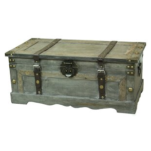 Lorenza Rustic Large Wooden Storage Trunk