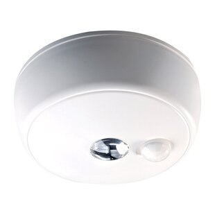 Purchase 1 -Light LED Integrated Flush Mount with Ceiling Metal Motion-Sensing By Mr. Beams