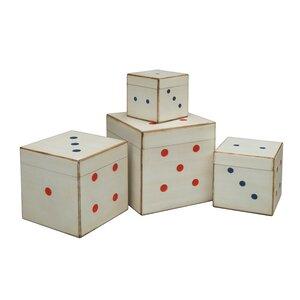4-tlg. Aufbewahrungsbox-Set Dice von All Home