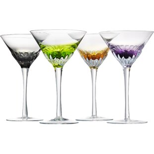 unique martini glasses trendy cocktail inabinet martini glass set of 4 glasses youll love wayfair