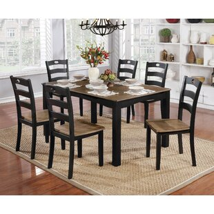 Delightful Hoyle Transitional 7 Piece Dining Table Set