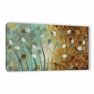 White Tulips Painting Print Wrapped on Canvas by Latitude Run