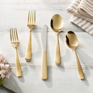Weeki Wachee Bourne Gold Mirror 20-Piece Flatware Set