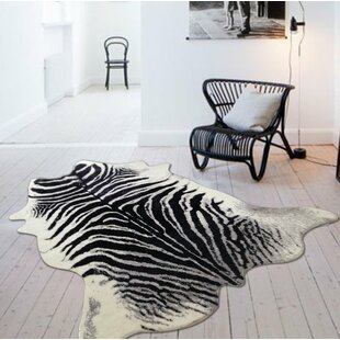 Reviews Choi Black/White Area Rug By Union Rustic