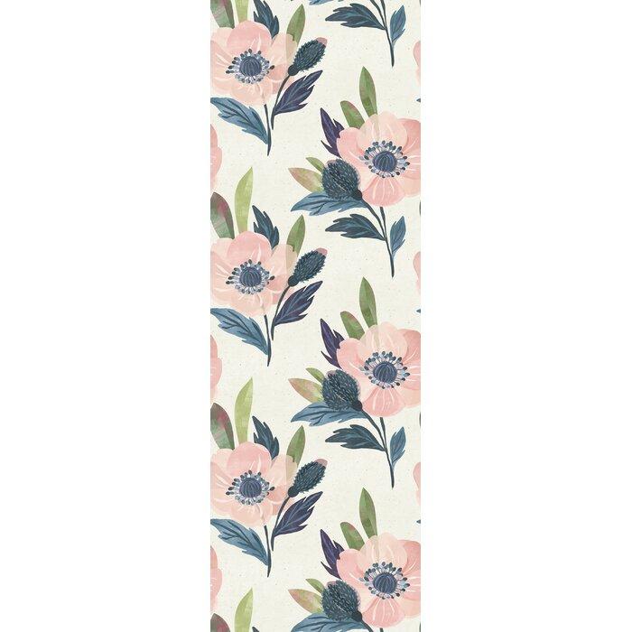Coburn Watercolor Floral 10 L X 25 W Peel And Stick Wallpaper Roll