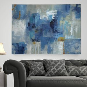 'Blue Morning' Painting Print on Wrapped Canvas by Wexford Home