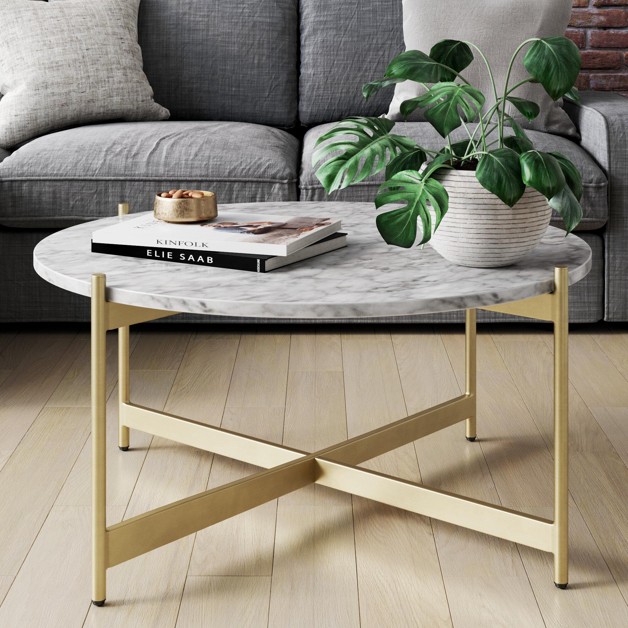 Wrought Studio Belynda Cross Legs Coffee Table Reviews Wayfair