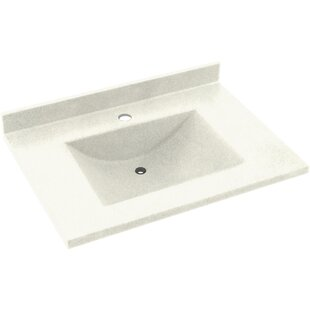 Price comparison Contour Solid Surface 37 Single Bathroom Vanity Top By Swan
