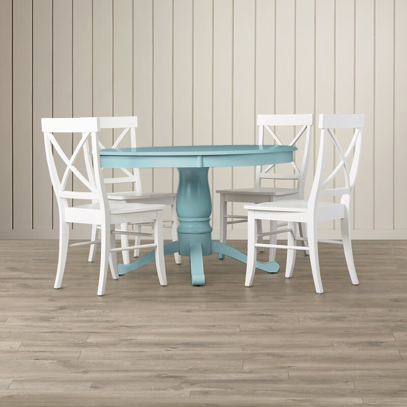 Top Beachcrest Home Stock Island 5 Piece Pedestal Dining Set & Reviews  OA82