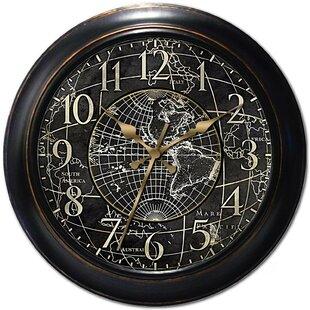 World map clock wayfair 18 world map wall clock publicscrutiny Images