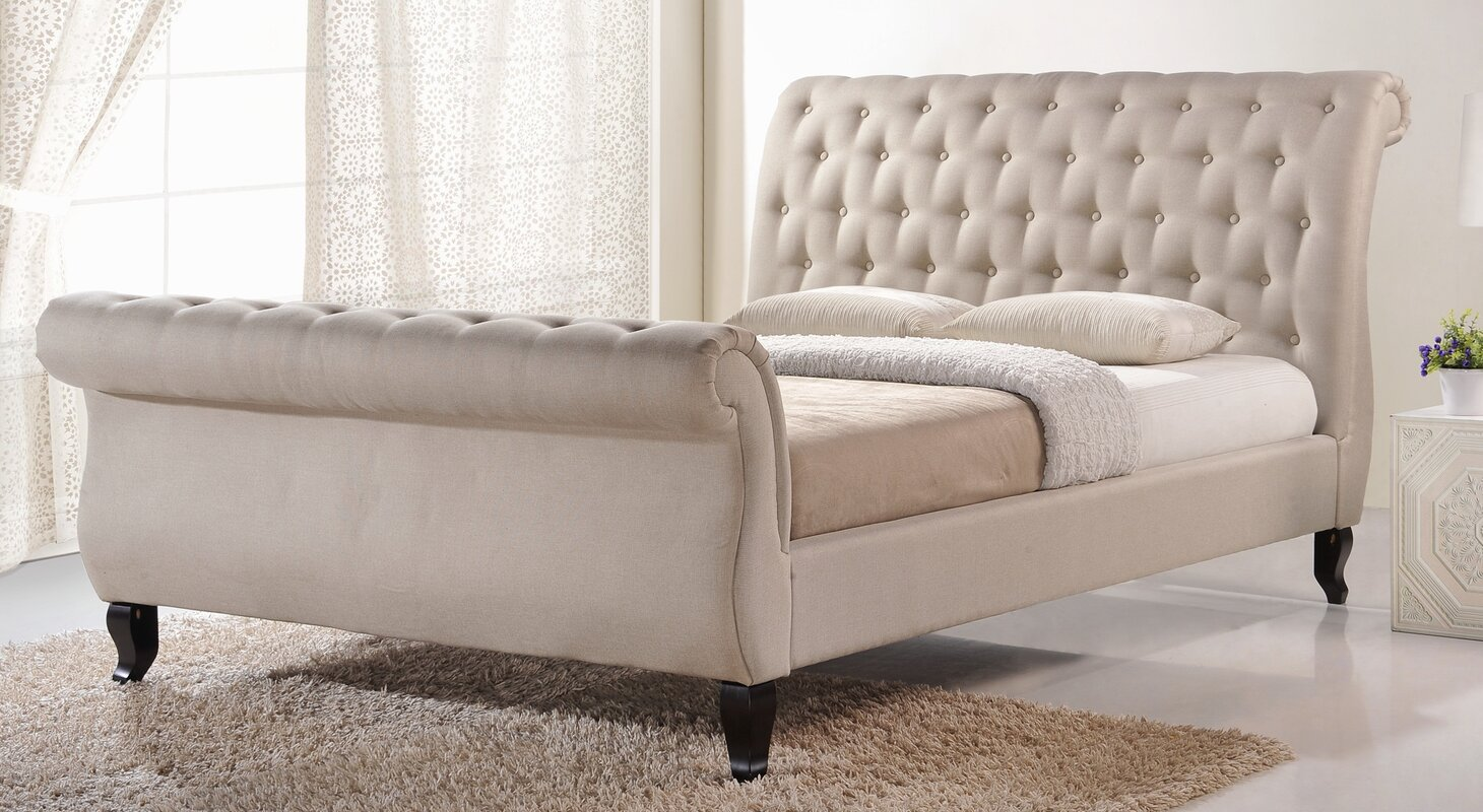 Antoinette Sleigh Platform Bed By Wholesale Interiors