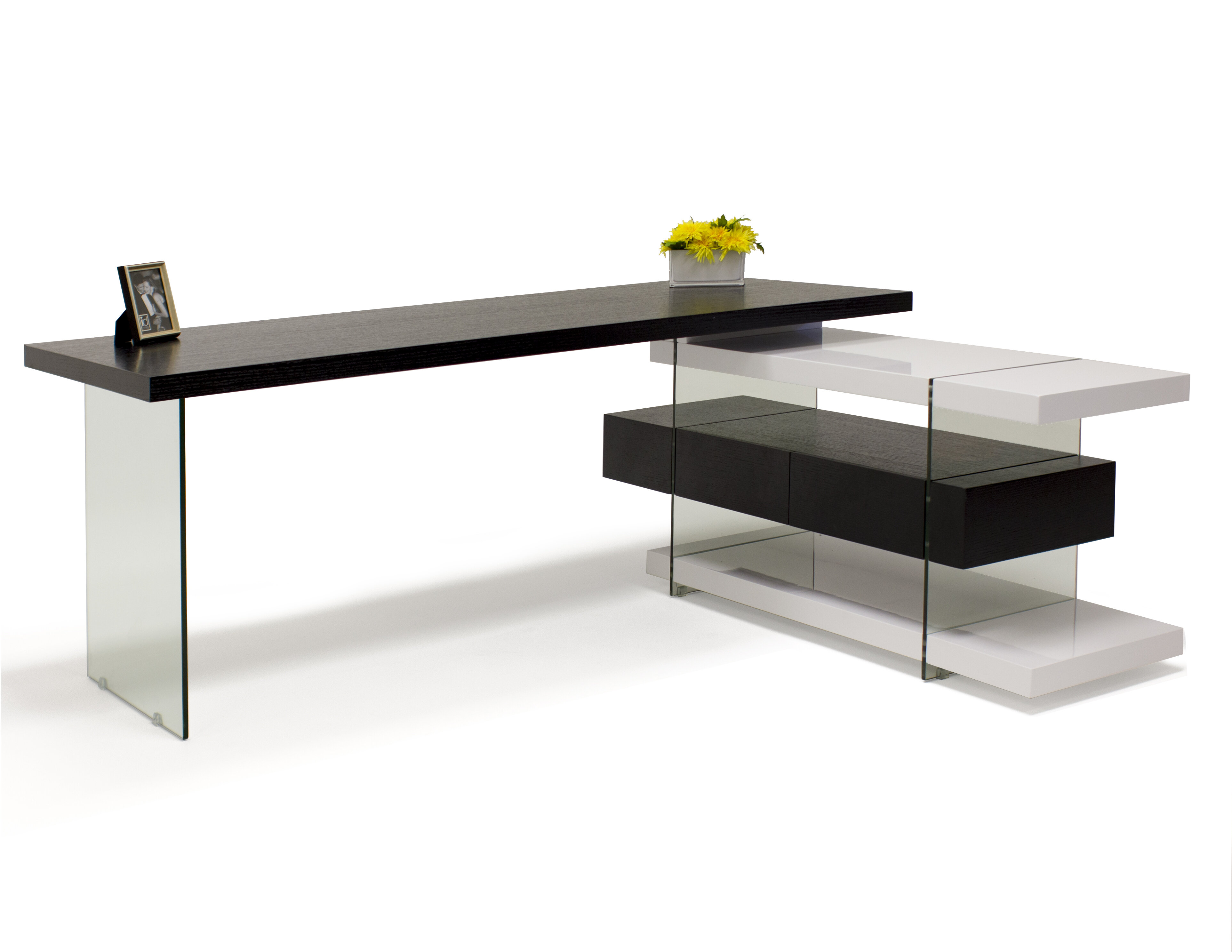 Orren Ellis Asotin L Shape Executive Desk Wayfair